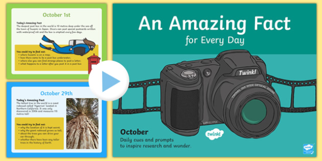 An Amazing Fact a Day October PowerPoint - amazing, face, day, october