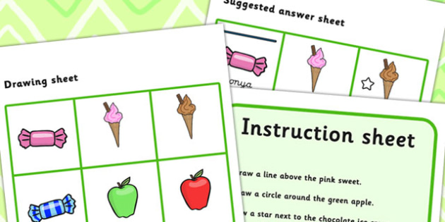 Listen And Do 2 Four Word Level - drawing, levels, worksheets