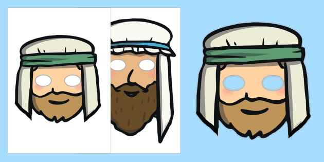 The Wise Man And The Foolish Man Story Role Play Masks - the wise man, the foolish man, wise, foolish, sand, rock, role play mask, role play, masks, rain, houses, building, house, bible story, bible