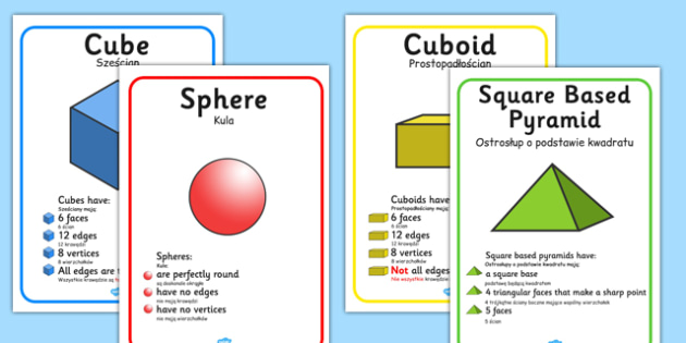 3D Shape Display Posters Polish Translation - polish, 2d shape, display posters, display, posters, shape, 3d