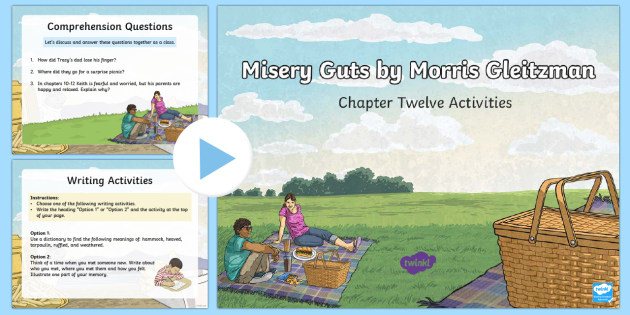 Chapter 12 Activities to Support Teaching on Misery Guts by Morris Gleitzman PowerPoint - Literacy, powerpoint, literature, australian curriculum, literature, novel study, misery guts by mor