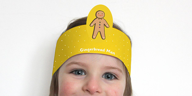 The Gingerbread Man Role Play Headbands - stories, role play