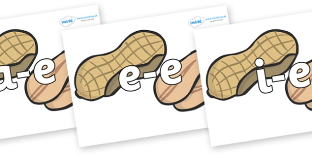 Modifying E Letters on Peanuts - Modifying E, letters, modify, Phase 5, Phase five, alternative spellings for phonemes, DfES letters and Sounds