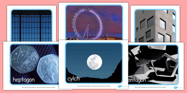 Ffotograffau Siapiau 2D - cymreag, welsh, 2d shape, display photos, display, photos, 2d, shape