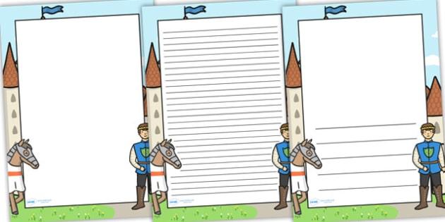 Prince Themed Page Borders - prince, page borders, borders, write