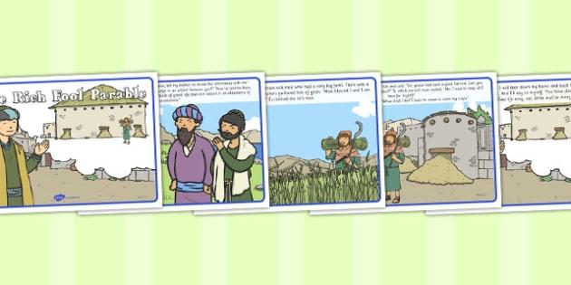 The Rich Fool Parable - parable, rich fool, rich, fool, christian