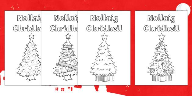 CfE Christmas Card Paper Craft-Scottish - CfE Christmas card Scottish Gaelic ,Scottish - CfE Christmas card Scottish Gaelic ,Scottish