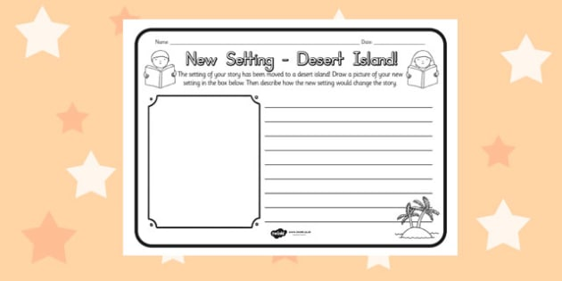 New Setting Desert Island Comprehension Worksheet - australia