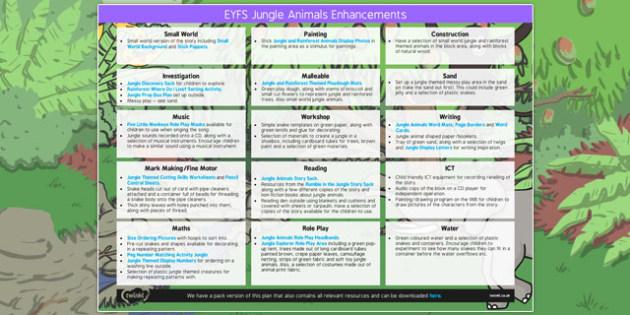 EYFS  Enhancement Ideas to Support Teaching on Walking Through the Jungle - jungle, ideas