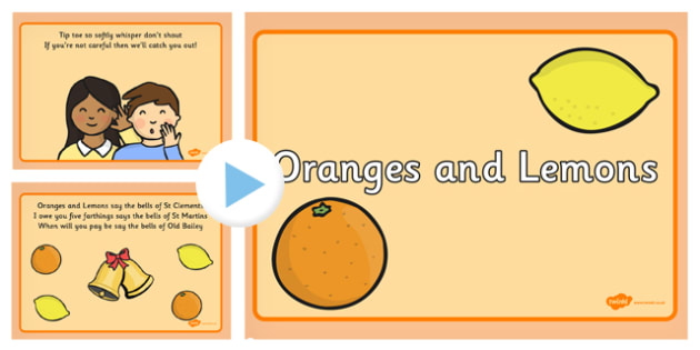 Oranges and Lemons Nursery Rhyme PowerPoint - Oranges, Lemons