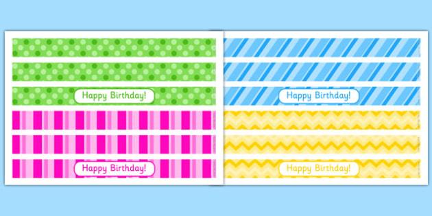 5th Birthday Party Cake Ribbon - 5th birthday party, 5th birthday, birthday party, cake ribbon