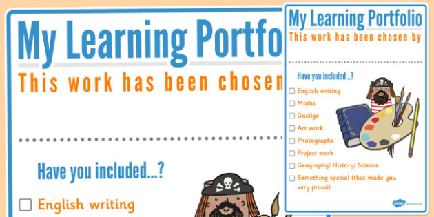 My Learning Portfolio Ireland ROI - log, record, diary, notes, work, assessment, progress, termly, term, year, personal, individual, education, keep, irish, ireland,