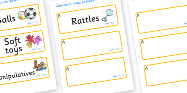 Penguin Themed Editable Additional Resource Labels - Themed Label template, Resource Label, Name Labels, Editable Labels, Drawer Labels, KS1 Labels, Foundation Labels, Foundation Stage Labels, Teaching Labels, Resource Labels, Tray Labels, Printable