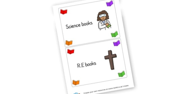 lables - Reading Area Primary Resources, signs, area, zones, banner, poster