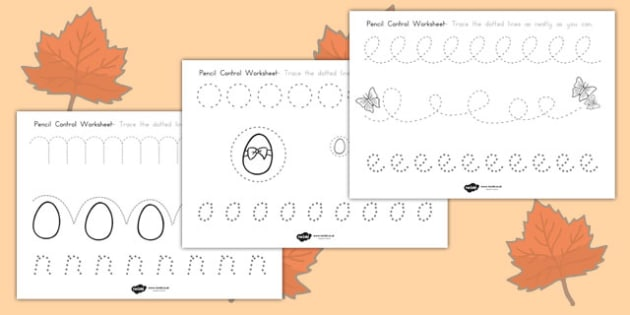 Easter Pencil Control Worksheets - easter, christianity, control