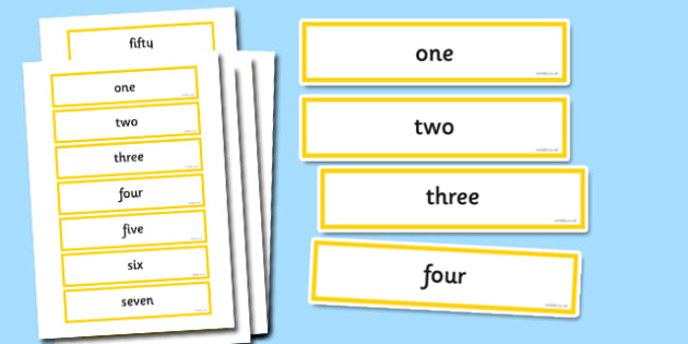 Number Words to Fifty Cards - Number Digit Cards & Fans Primary Resources, numeracy, flashcards