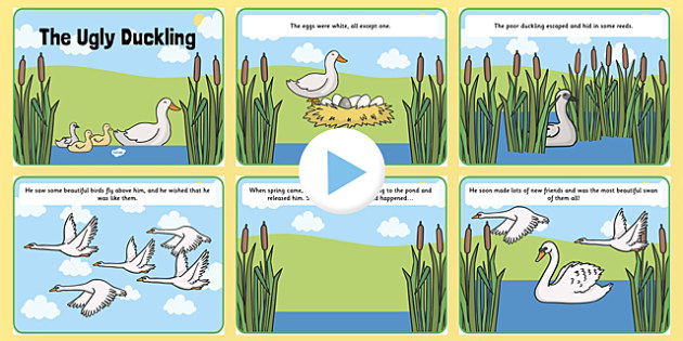The Ugly Duckling Story PowerPoint - the ugly duckling, the ugly duckling powerpoint, the ugly duckling story, the ugly duckling story sequencing, story