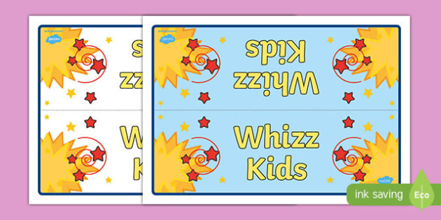 Whizz Kids Group Table Sign - signs, labels, classroom sign