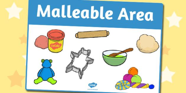 Malleable Area Sign - area, sign, area sign, malleable area