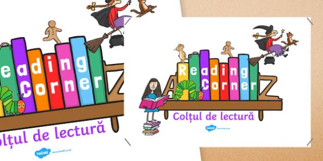 Reading Corner Display Poster Romanian Translation-Romanian-translation