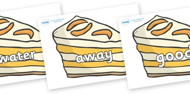 Next 200 Common Words on Peach Dessert to Support Teaching on The Lighthouse Keeper's Lunch - Next 200 Common Words on  - DfES Letters and Sounds, Letters and Sounds, Letters and sounds words, Common words, 200 common words