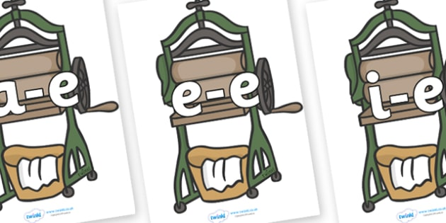 Modifying E Letters on Mangle - Modifying E, letters, modify, Phase 5, Phase five, alternative spellings for phonemes, DfES letters and Sounds