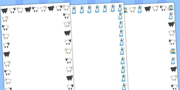 Little Bo Peep Page Borders - Little Bo Peep, nursery rhyme, Literacy, writing, page border, a4 border, template, writing aid, writing border, page template, rhyme, rhyming, nursery rhyme story, nursery rhymes, Little Bo Peep resources, sheep