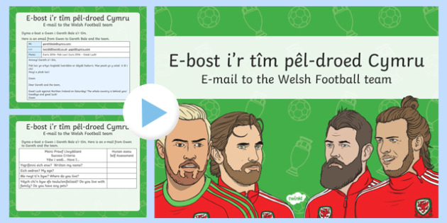 Euro 2016  Email to the Welsh Team PowerPoint-Welsh