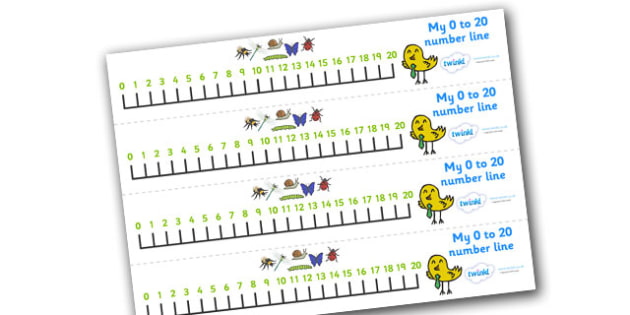 Minibeasts Number Line 0-20 (Detailed Version) -  Numberline, minibeasts, Counting, Numberline, Number line, Counting on, Counting back