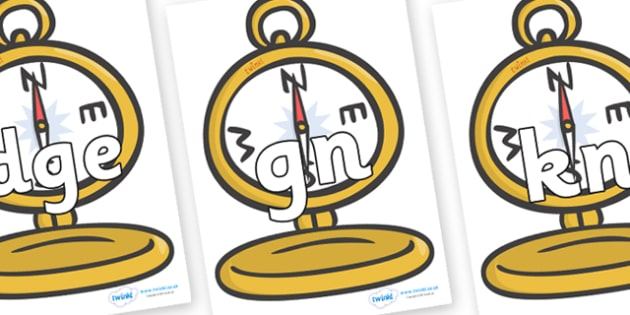 Silent Letters on Pocket Watches - Silent Letters, silent letter, letter blend, consonant, consonants, digraph, trigraph, A-Z letters, literacy, alphabet, letters, alternative sounds