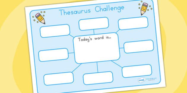 Thesaurus Challenge Worksheets - thesaurus, literacy, challenge