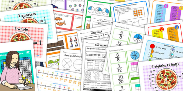 Maths Fractions Catch Up Resource Pack - maths, catch up, pack