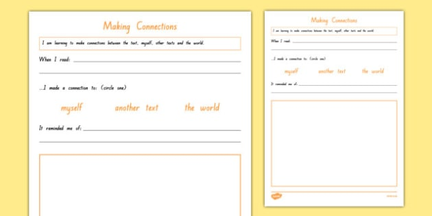 Making Connections Activity Sheet, worksheet