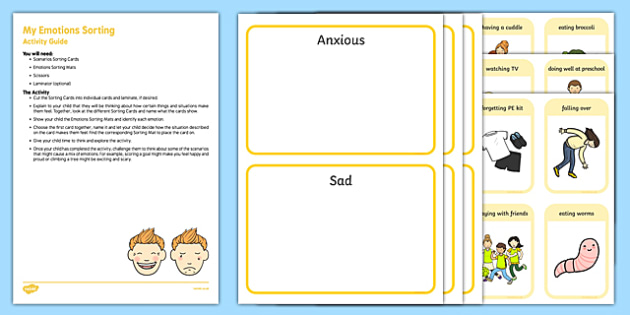 EYFS My Emotions Sorting Busy Bag Resource Pack for Parents