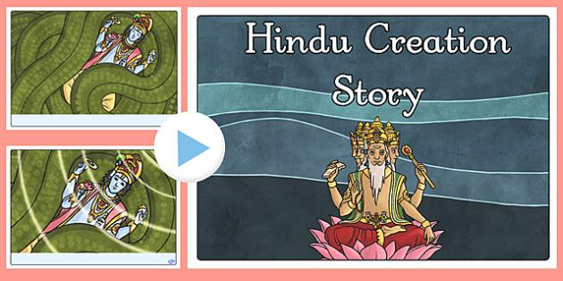 Hindu Creation Story PowerPoint - hindu, creation story, story