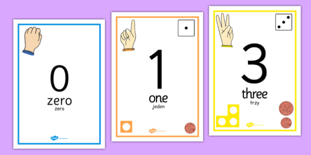 Visual Number Line Posters 0 to 20 Polish Translation - polish, visual, number line, posters, display, 1-20