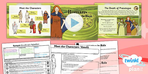 PlanIt - History LKS2 - Romans Lesson 3: Boudicca's Rebellion Lesson Pack