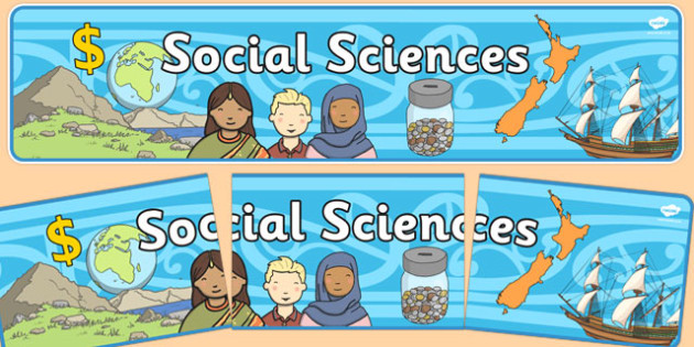 Social Sciences Display Banner NZ - nz, new zealand, social sciences, display banner, display, banner