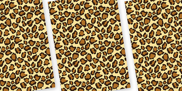 Leopard Themed Pattern A4 Sheets - safari, safari animal themed sheets, leopard pattern sheets, leopard sheets, leopard a4 sheets, animal patterns