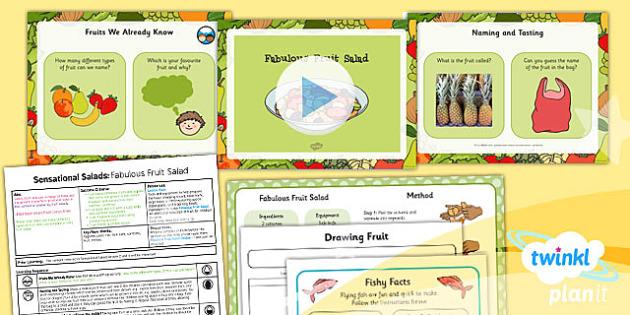 D&T KS1 Sensational Salads Lesson 6 Fabulous Fruit Salad Pack