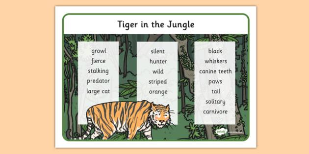 Jungle Tiger Word Mat - jungle, tiger, word mat, word, mat, animal