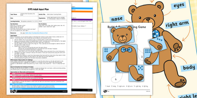 Build a Bear Counting Game EYFS Adult Input Plan and Resource Pack