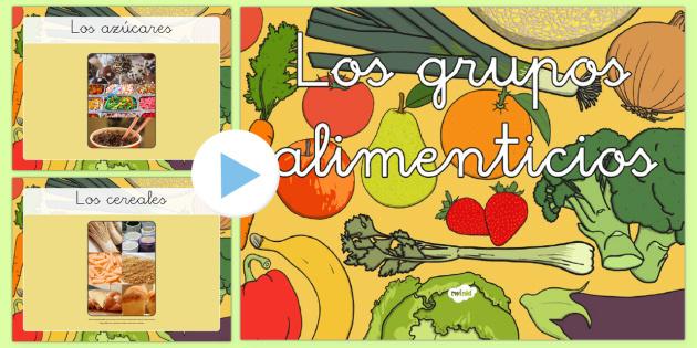 Los grupos alimenticios Presentación - origenes de la comida, comer bien, comer sano, saludable, nutrición, alimentación, dieta saludable