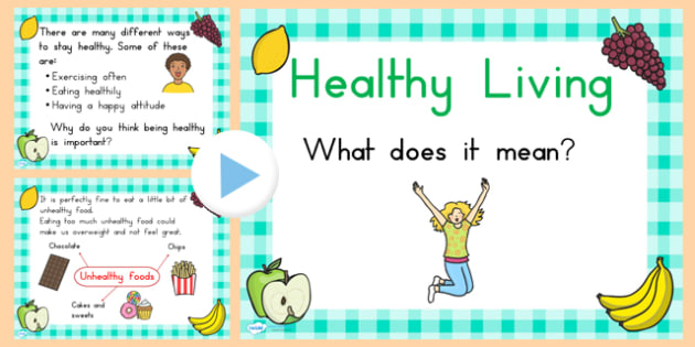 EYFS Healthy Eating and Living PowerPoint - health, food, fruit