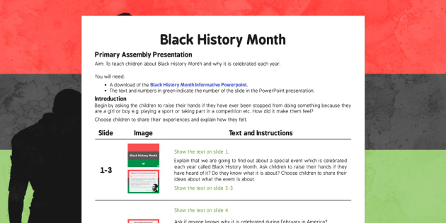 Black History Month Assembly - black history month, assembly