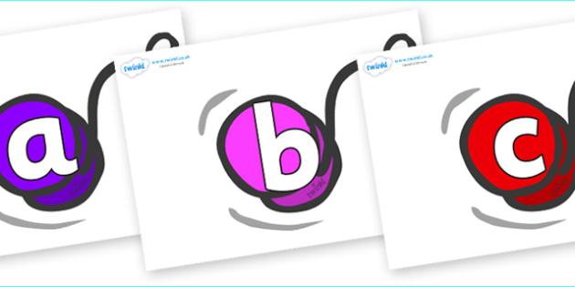Phoneme Set on Yo Yos - Phoneme set, phonemes, phoneme, Letters and Sounds, DfES, display, Phase 1, Phase 2, Phase 3, Phase 5, Foundation, Literacy