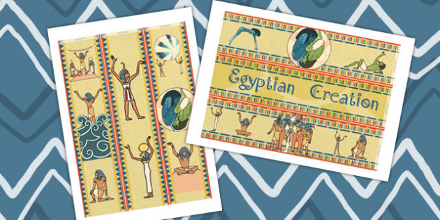 Ancient Egyptian Creation Story Display Borders - ancient egypt