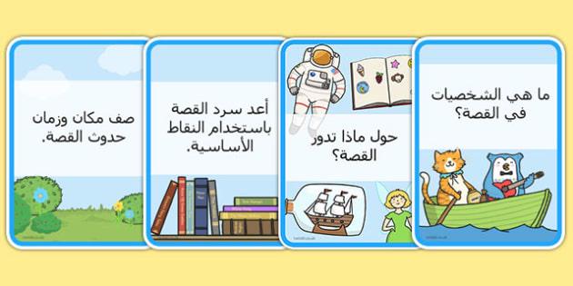 بطاقات القراءة والفهم - القراءة، موارد تعلم، عربي