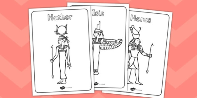 Egyptian Gods Colouring Pages - egyptian gods, colouring, pages, colour