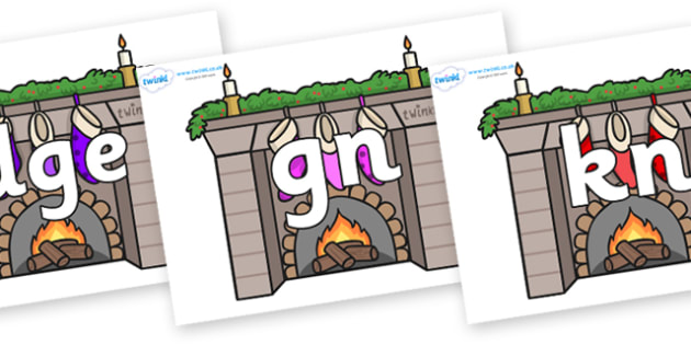 Silent Letters on Fireplaces - Silent Letters, silent letter, letter blend, consonant, consonants, digraph, trigraph, A-Z letters, literacy, alphabet, letters, alternative sounds
